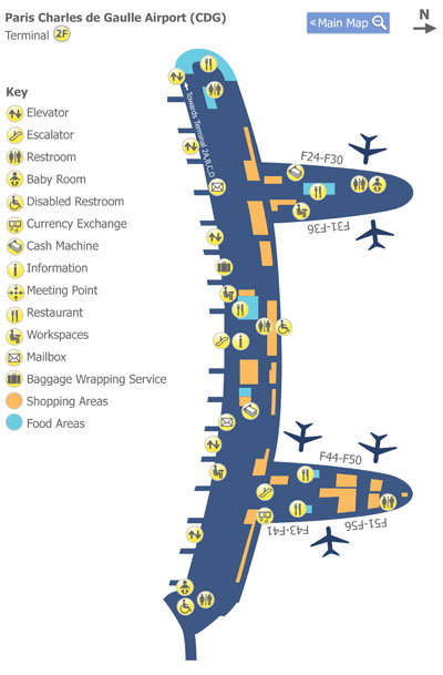 Paris Charles de Gaulle Airport (CDG) Terminal Maps - Map