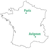 Carte Paris Avignon