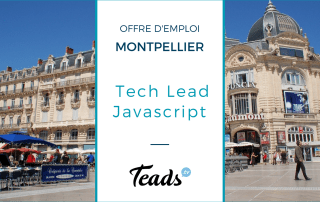 offre emploi montpellier tech lead javascript teads