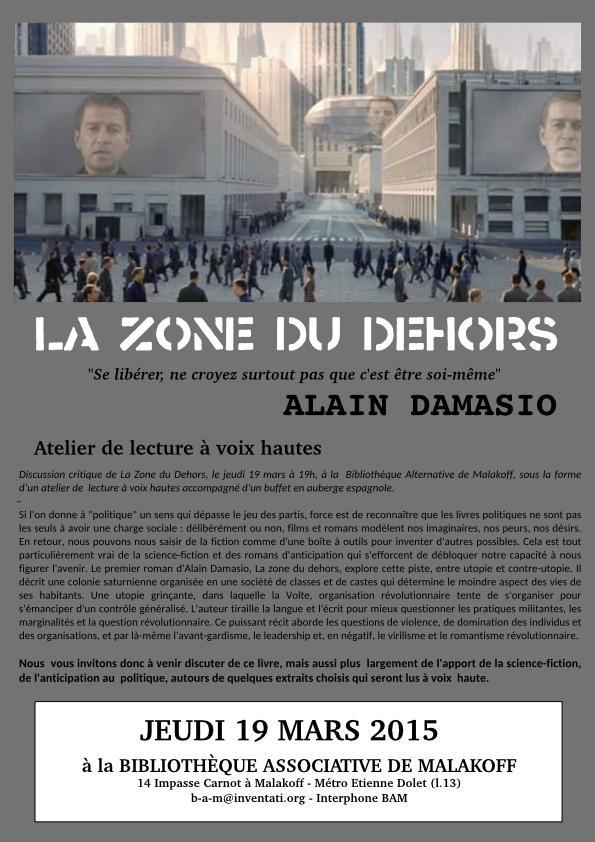 Alain Damasio La Zone Du Dehors : alain, damasio, dehors, Atelier, Lecture, Haute, Dehors, Paris-luttes.info