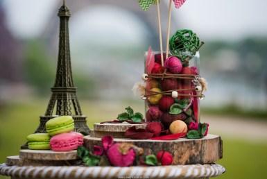 paris. the eiffel tower ceremony decoration