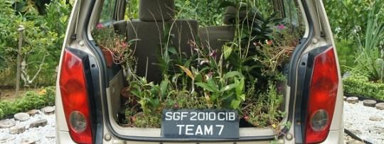 Jardin dans une voiture à HortPark Singapour