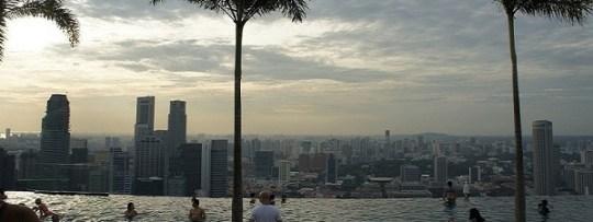 Piscine du Marina Bay Sands à Singapour