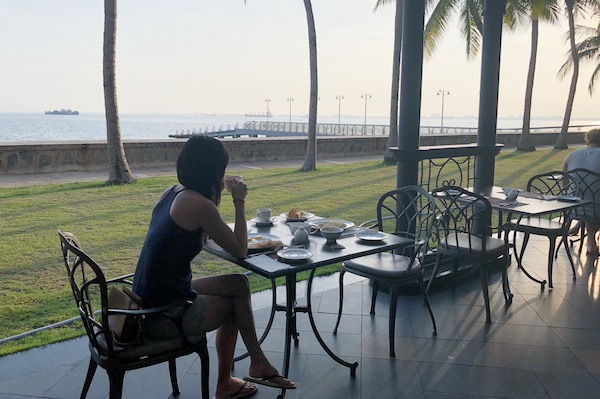 Petit Dejeuner a l'hotel Eastern and Oriental a Penang