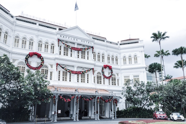 Raffles Hotel à Noël