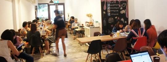 Inside Selfish Gene Cafe à Tanjong Pagar