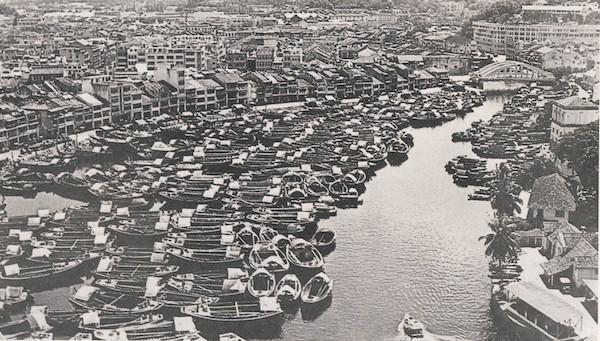 Singapore River au début du siècle