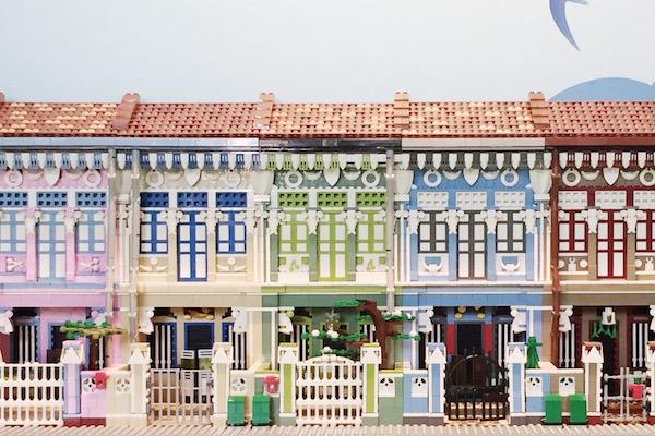 Shophouses en Lego