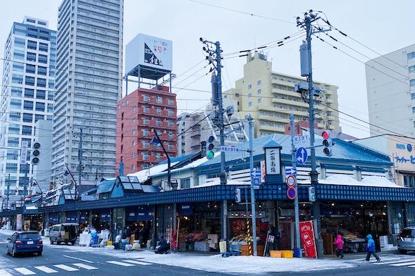 Nijo fish market Sapporo Hokkaido