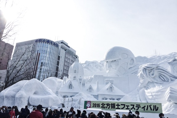 Sapporo Snow Festival Attack on Titan