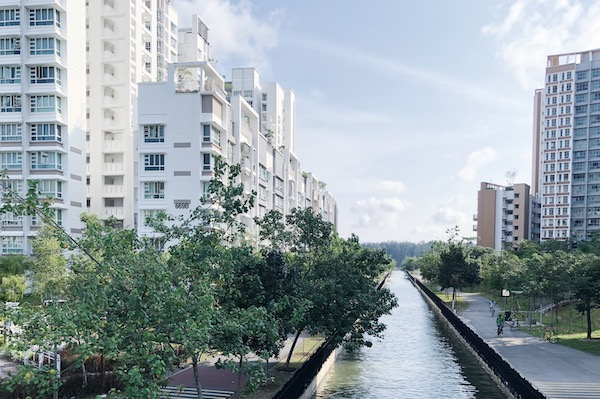 Canaux a Punggol Singapour