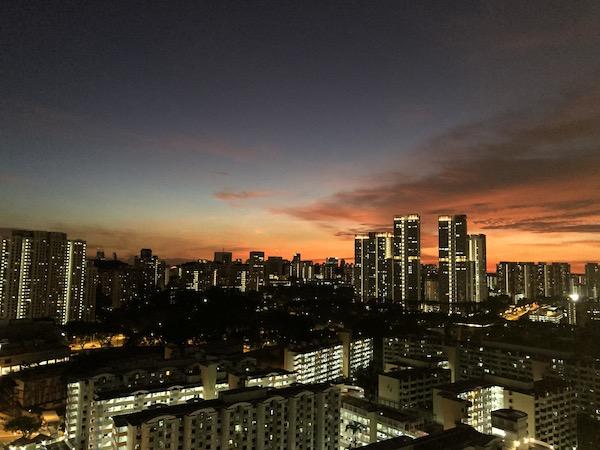 Singapour coucher de soleil