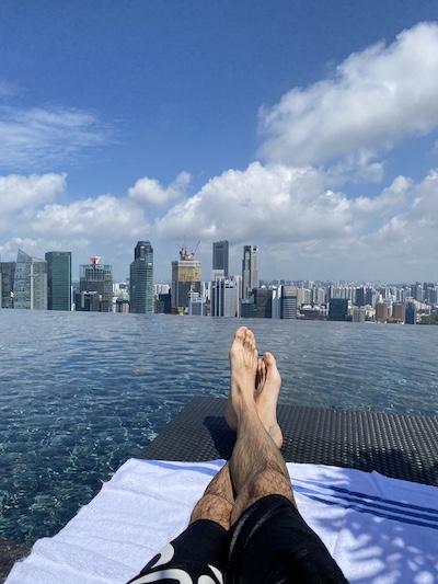 Tout seul a Marina Bay Sands