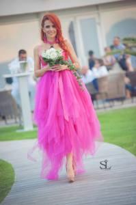 robe mariée rose