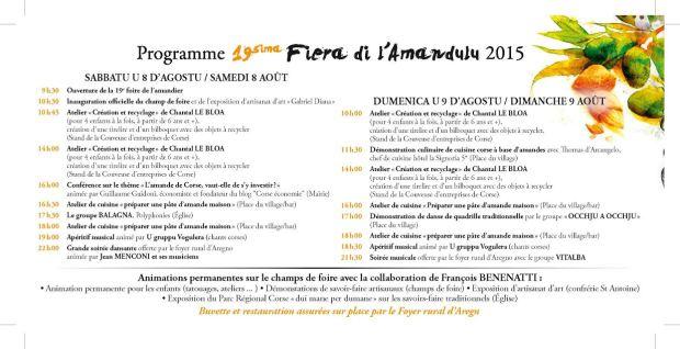 programme aregno