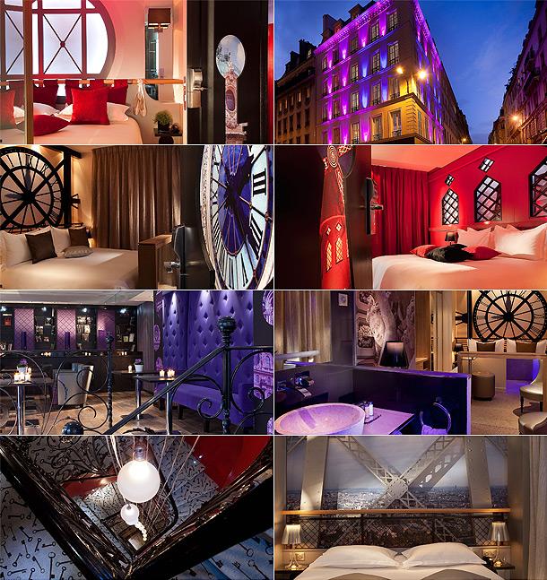Interior do quarto do Hotel Secret de Paris