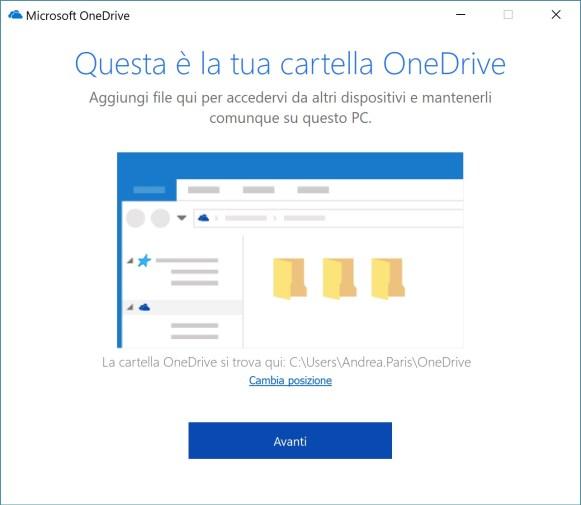 OneDrive - Configurazione e primo accesso