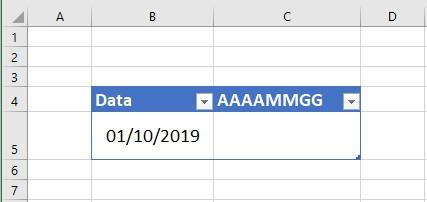 Trasformare una data in formato AAAAMMGG