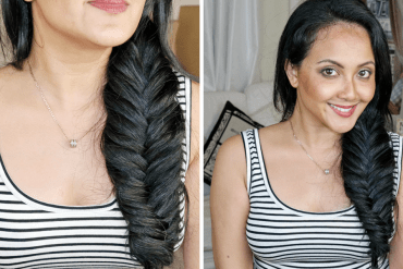 3 How To Fishtail Braid With Clip-in Hair Extensions On Your Own Hair Everyday Chic Hairstyle