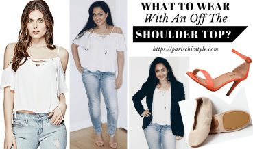 What To Wear With An Off The Shoulder Top Paris Chic Style Foldable Ballet Flats