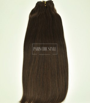 #4 Chocolate Brown Clip In Hair Extensions Paris Chic Style 1_watermarked