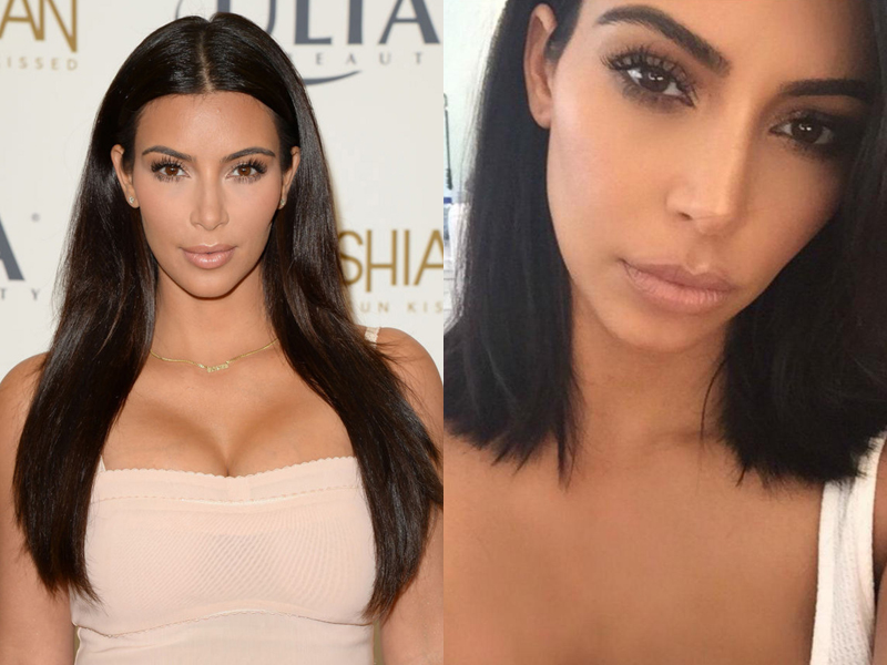 Celebrities Before And After Hair Extensions Kim Kardashian