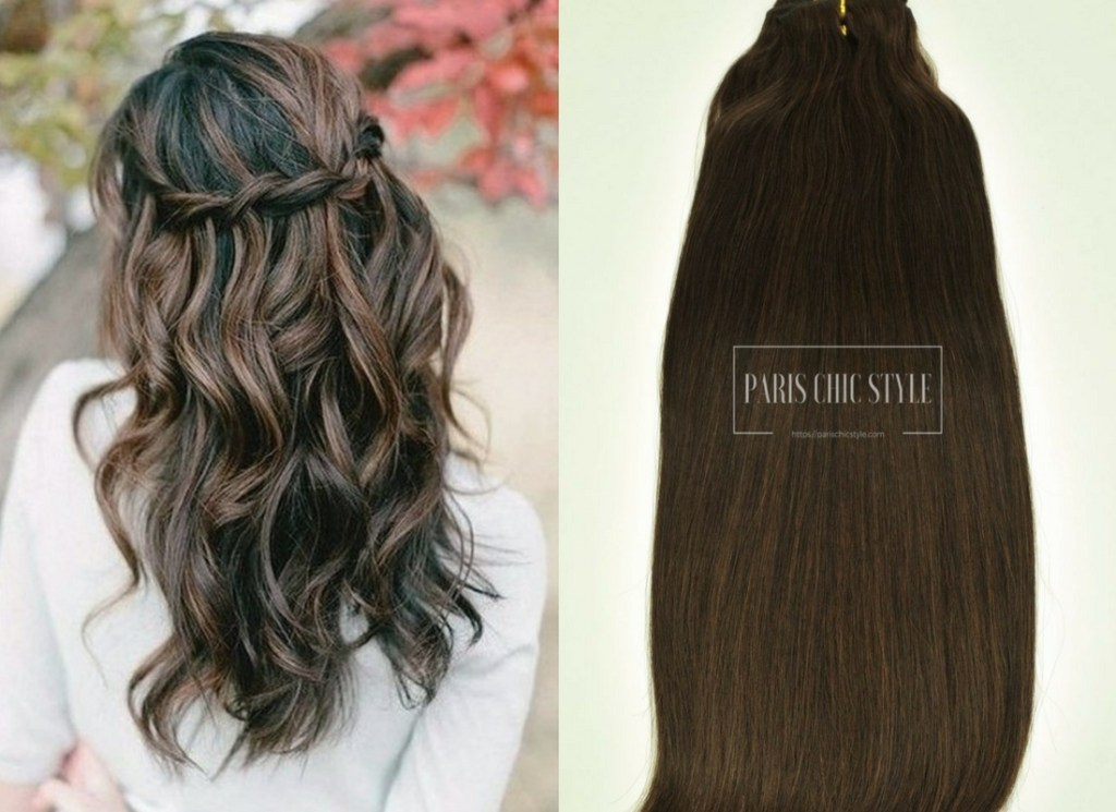 3 How To Dress Like A Parisian Chic Hairstyle Effortlessly Chocolate Brown Clip In Hair Extensions (1)