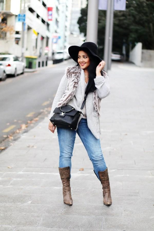 Wear Faux Fur Vest Paris Chic Style Everyday Fashion