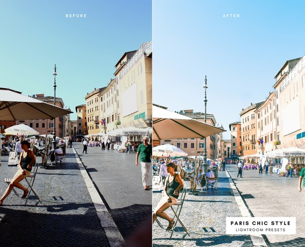 Before & After Rome Italy Lightroom Presets 1.1 Desktop Mobile Instagram Blog Fashion Lifestyle Travel Paris Chic Style 3