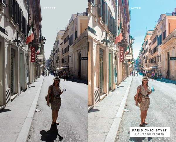 Before & After Rome Italy Lightroom Presets 1.1 Desktop Mobile Instagram Blog Fashion Lifestyle Travel Paris Chic Style 5