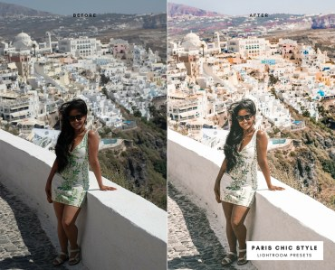 Before & After Santorini Greece Lightroom Presets 1.1 Desktop Mobile Instagram Blog Fashion Lifestyle Travel Paris Chic Style 2