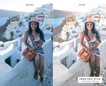Before & After Santorini Greece Lightroom Presets 1.1 Desktop Mobile Instagram Blog Fashion Lifestyle Travel Paris Chic Style 3