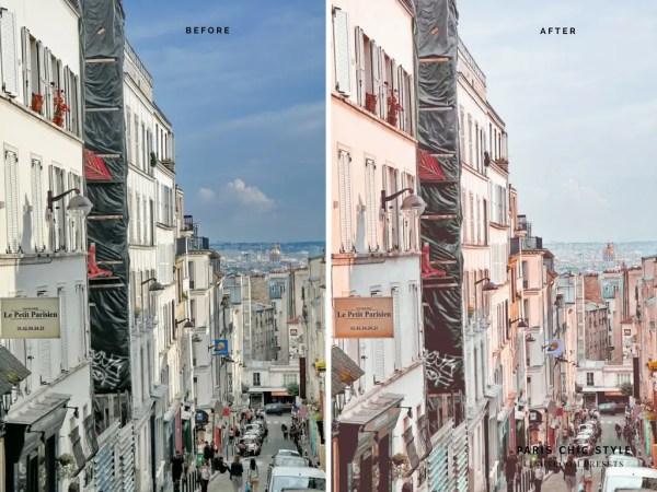 Paris France Lightroom Presets 1.1 Rose Gold Paris Chic Style Blog Travel Lifestyle Instagram Before & After 2