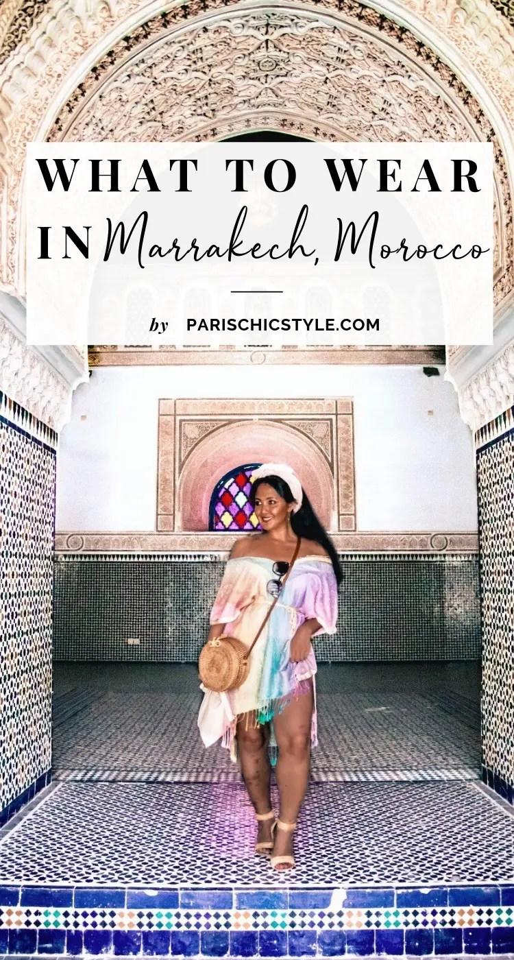 Marjolyn Lago Marj What To Wear In Marrakech Morocco Paris Chic Style Pinterest
