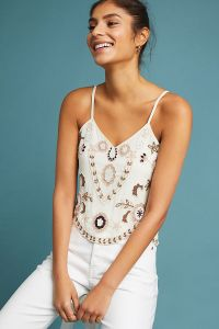 What To Wear In Marrakech Morocco White Spaghetti Strap Top Paris Chic Style 2
