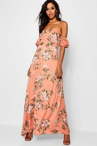 What To Wear In Morocco Marrakech Black White Pink Floral Maxi Dress Paris Chic Style 7