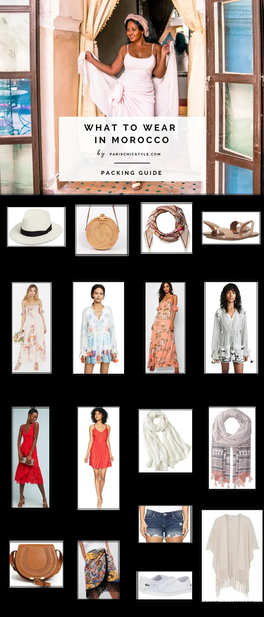 What To Wear In Morocco Marrakech Casablanca Rabat Fez Tangen Summer Fashion Travel Paris Chic Style