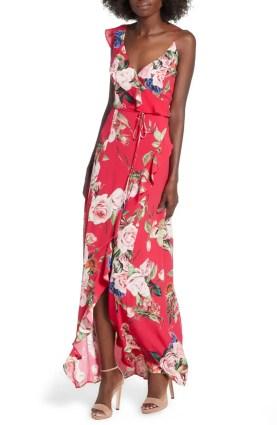 Best Red Dress How To Wear A Red Dress Bowen Wrap Maxi Dress AFRM Paris Chic Style 9