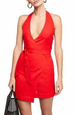 Best Red Dress How To Wear A Red Dress Endless Summer by Free People Fine Lines Minidress Paris Chic Style 8