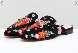 What Color Shoes To Wear With A Red Dress Floral Shoes ALDO Slip On Mule with Floral Embroidery Paris Chic Style 4