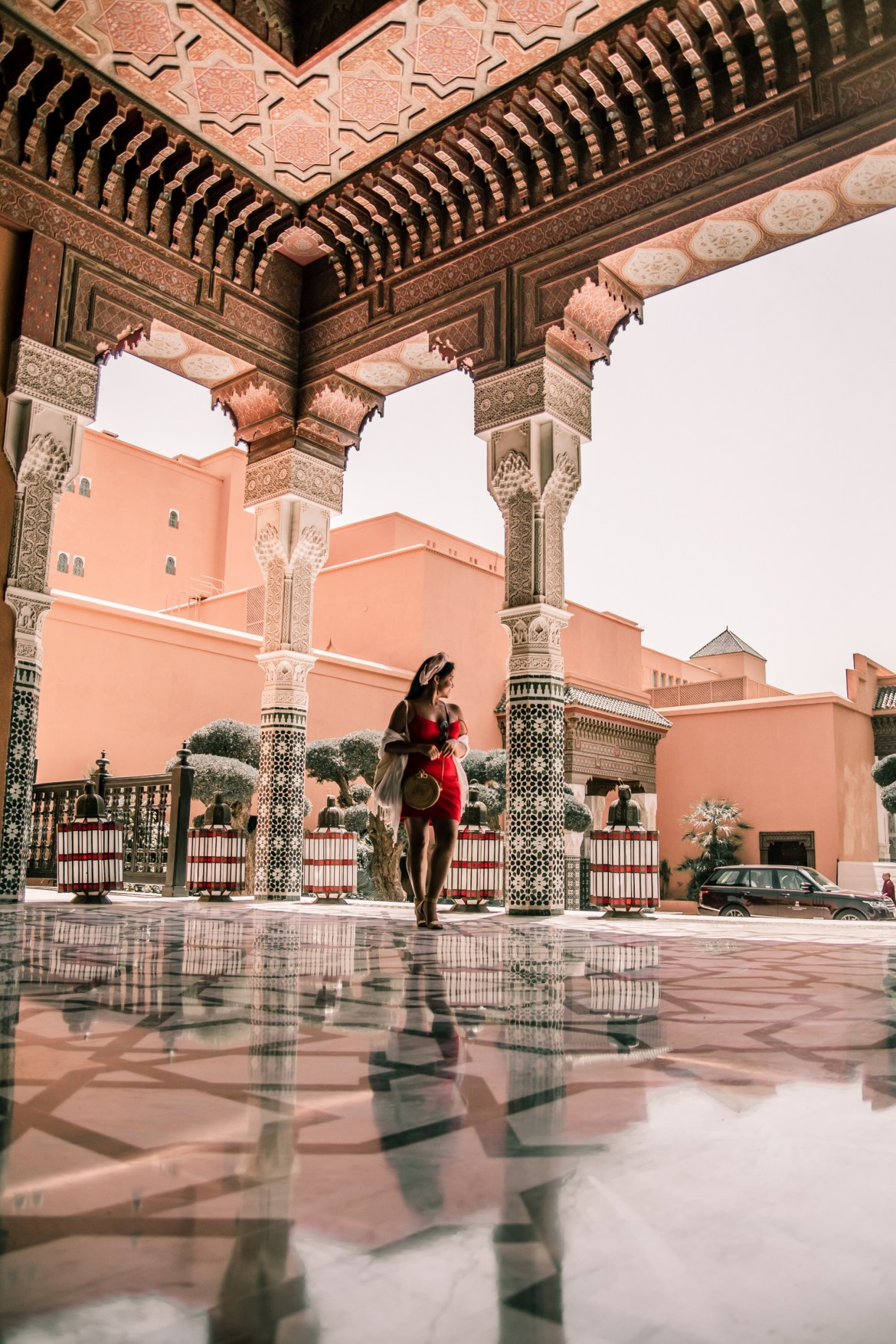 What Color Shoes To Wear With A Red Dress How To Wear A Summer Red Dress What To Wear In Morocco Marrakech Paris Chic Style 11