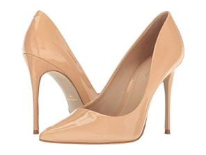 What Color Shoes To Wear With A Red Dress Nude Beige Blush Shoes Massimo Matteo Pointy Toe Pump 17 Paris Chic Style 5