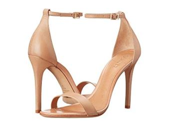What Color Shoes To Wear With A Red Dress Nude Beige Blush Shoes Schutz Cadey-Lee Paris Chic Style 6
