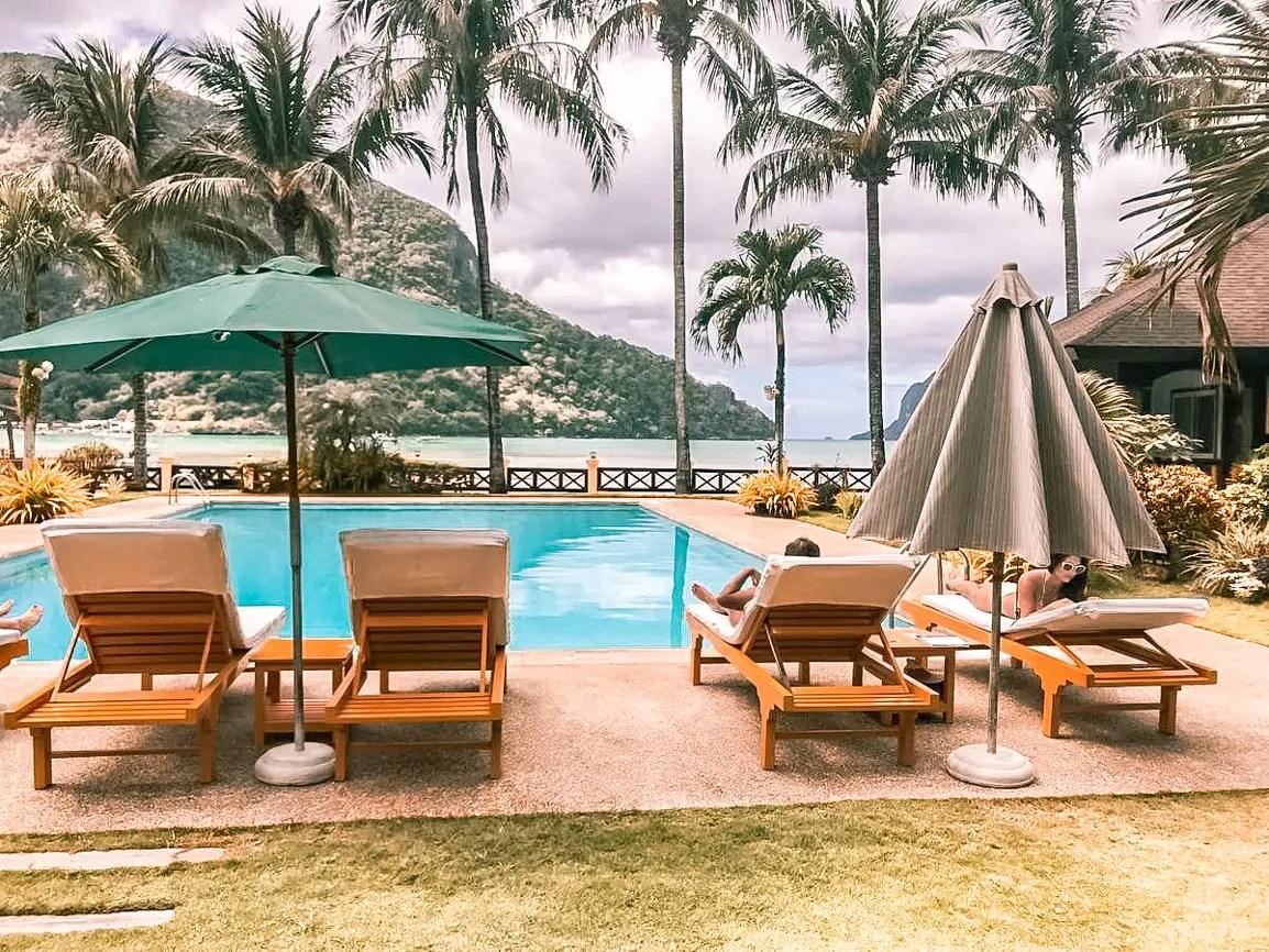 where to stay in el nido palawan el nido hotels beachfront garden resort