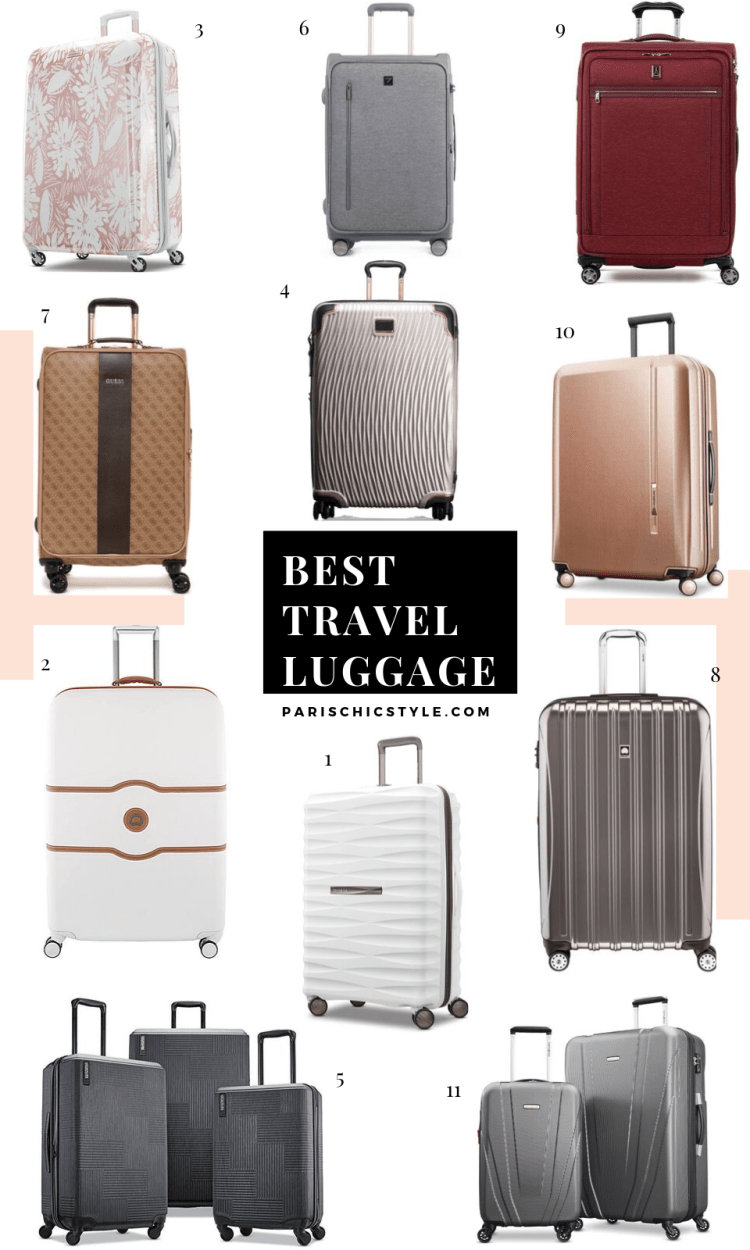 Best Travel Luggage Checkin Checked Lightweight Travel Suitcases Delsey Paris Samsonite Travelpro Paris Chic Style Pinterest (1)