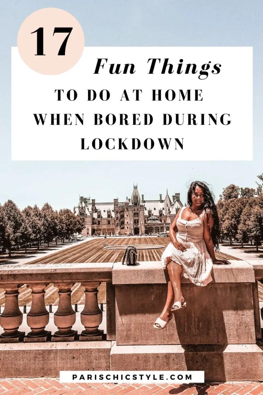 Paris Chic Style Biltmore Estate Castle Ashville North Carolina Fashion Travel Blog Lifestyle Fun Things To Do At Home When Bored Lockdown Coronavirus Pinterest