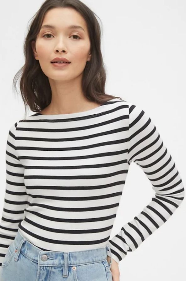 French Stripe Tops Outfit Paris Chic Style