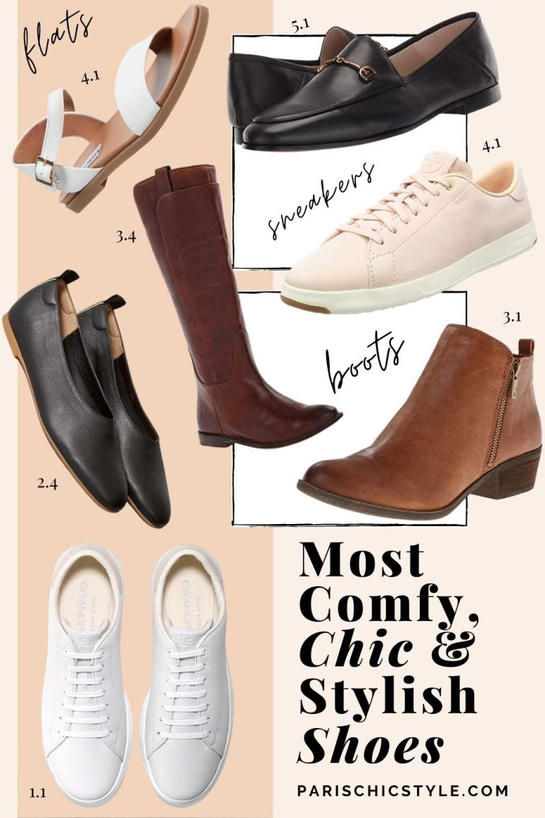 Most Comfortable Shoes For Women Walking Best Travel Shoes For Travel Work Street Style Paris Chic Style (2)
