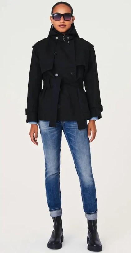 French Clothing Brand Ba&sh Parisian Style Trench Coat Jacket Paris Chic Style