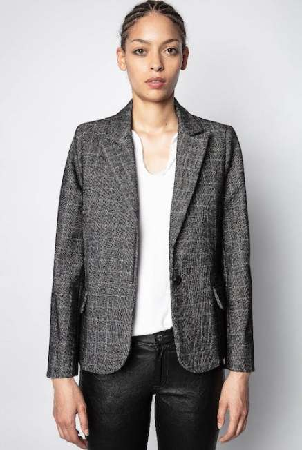 French Clothing Brand Zadig Voltaire Parisian Style Blazer Paris Chic Style